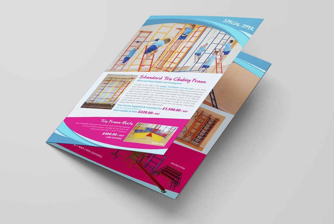 colourful leaflet printing for universal services