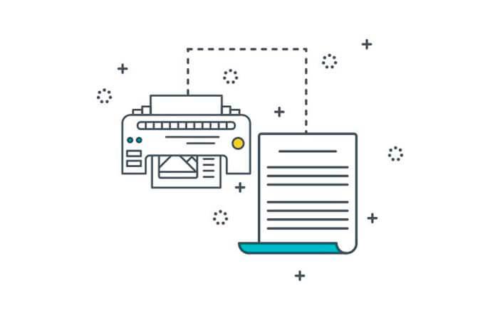 print copywriting concept