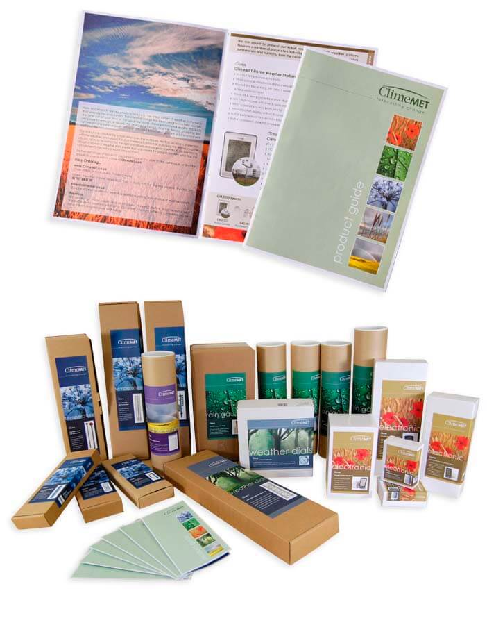 various packaging and printing for climemet