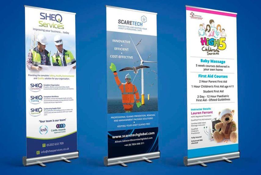 professionally printed roller banners