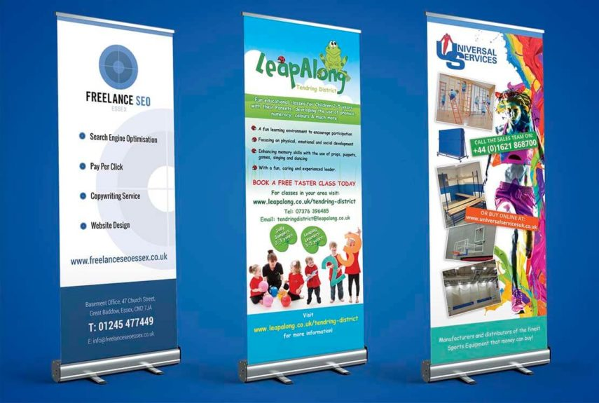 more examples of pull up banner designs