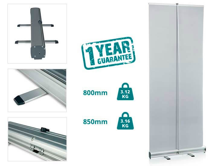specs for a typical roller banner