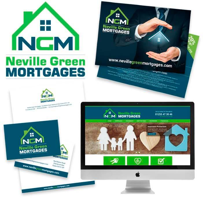 startup branding pack for neville green mortgages