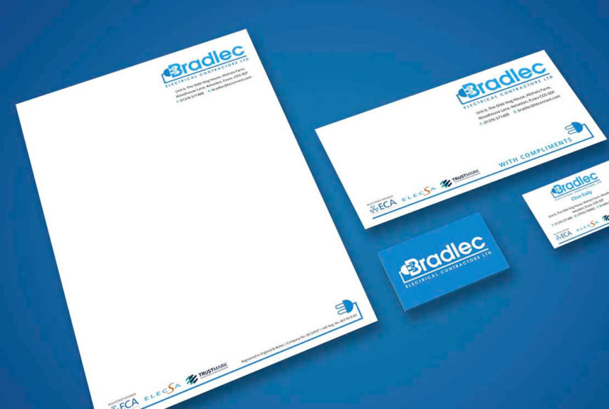 bradlec stationery design example