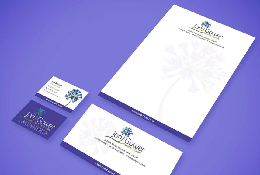 jon gower bespoke stationery design example