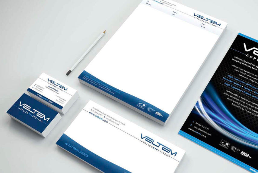 stationery set design for veltem