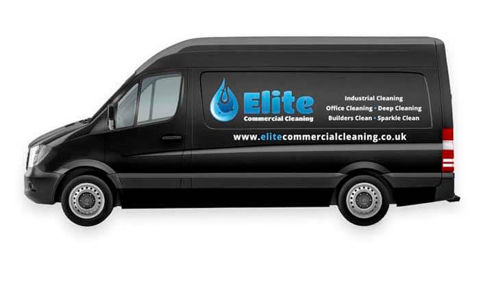 elite vehicle wrap on company van