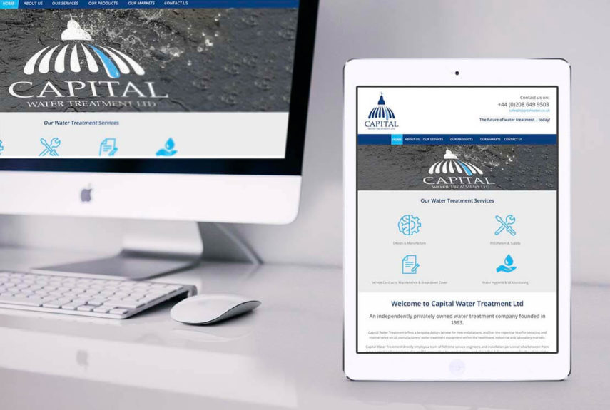 capital website shown on pc and tablet screens
