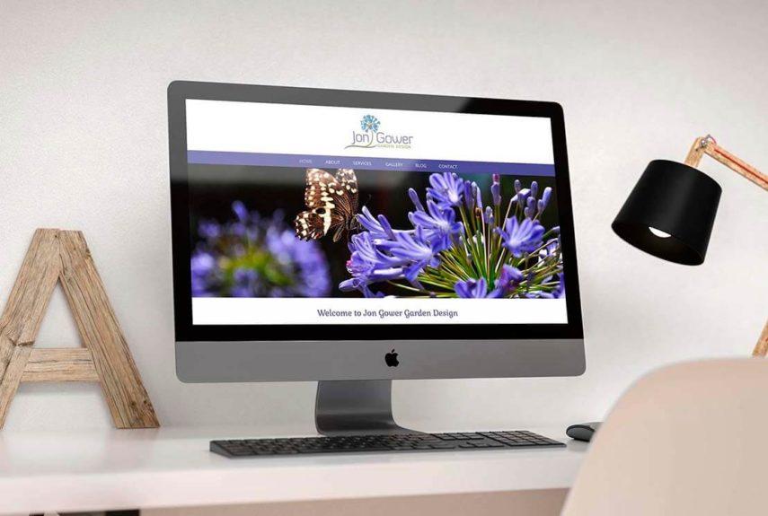 jon gower web design on imac