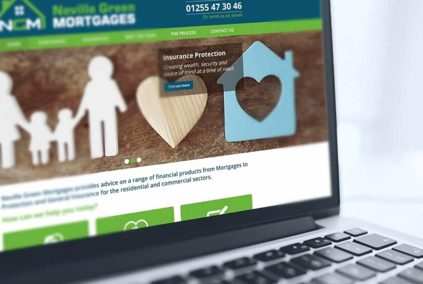 neville green mortgages website design