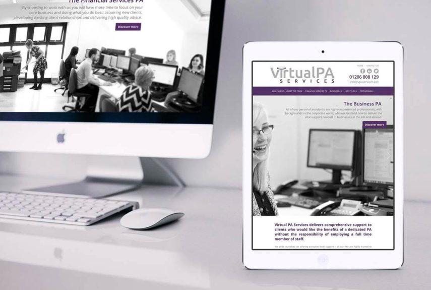 virtual pa website design
