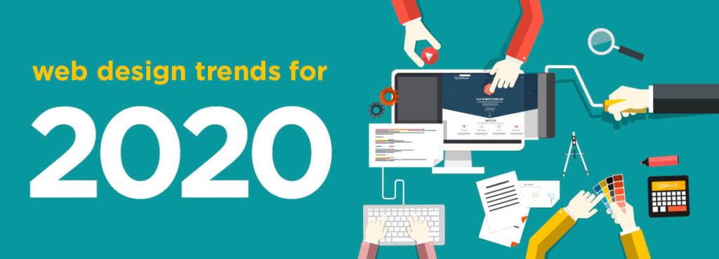 2020 website trends concept