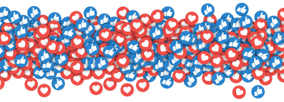 lots of social media design likes and loves symbols