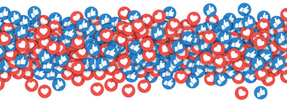 lots of social media design likes and loves symbols