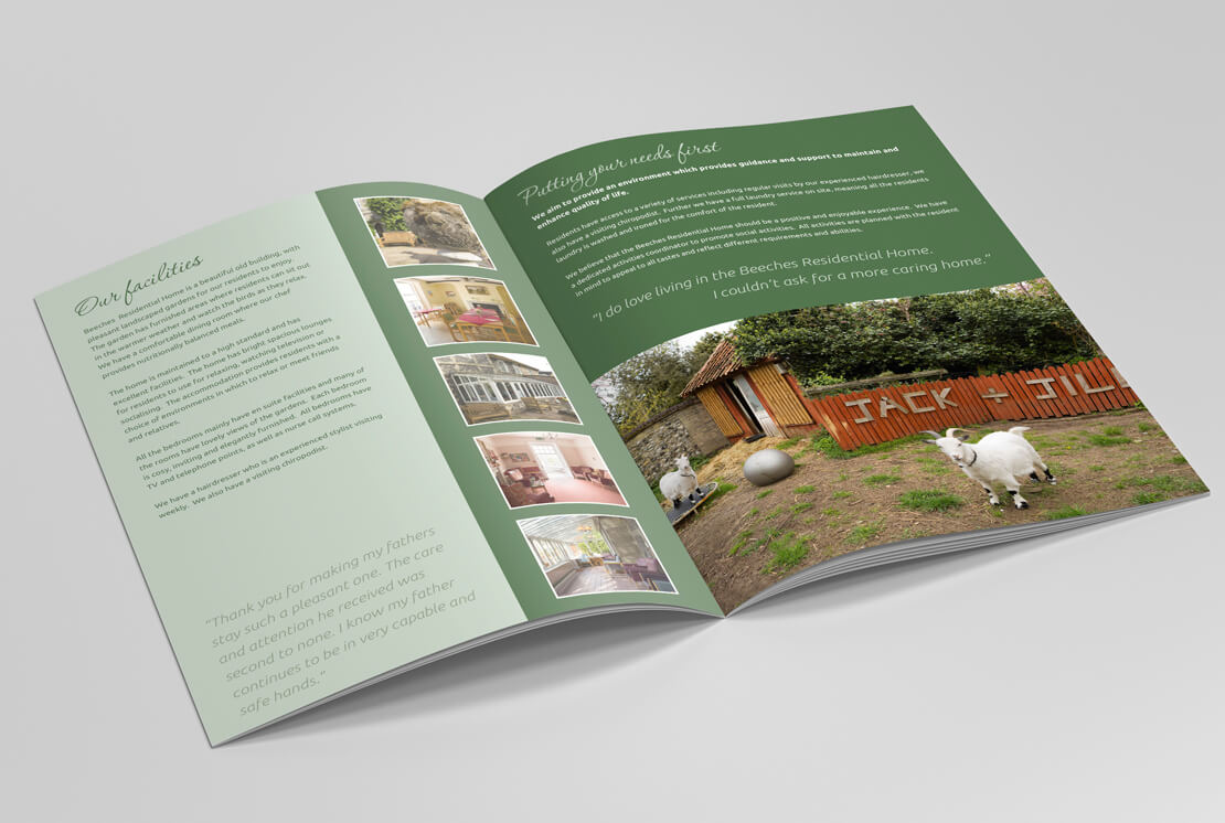 opened care home brochure pages