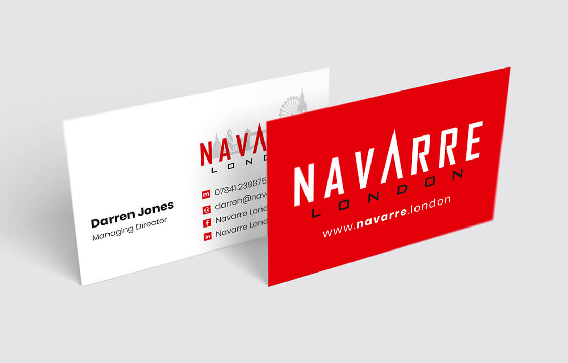 business card front and back in front of each other