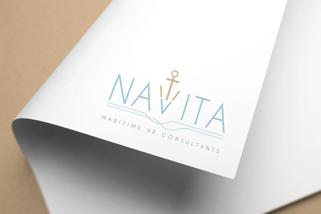 coloured logo on letterhead corner