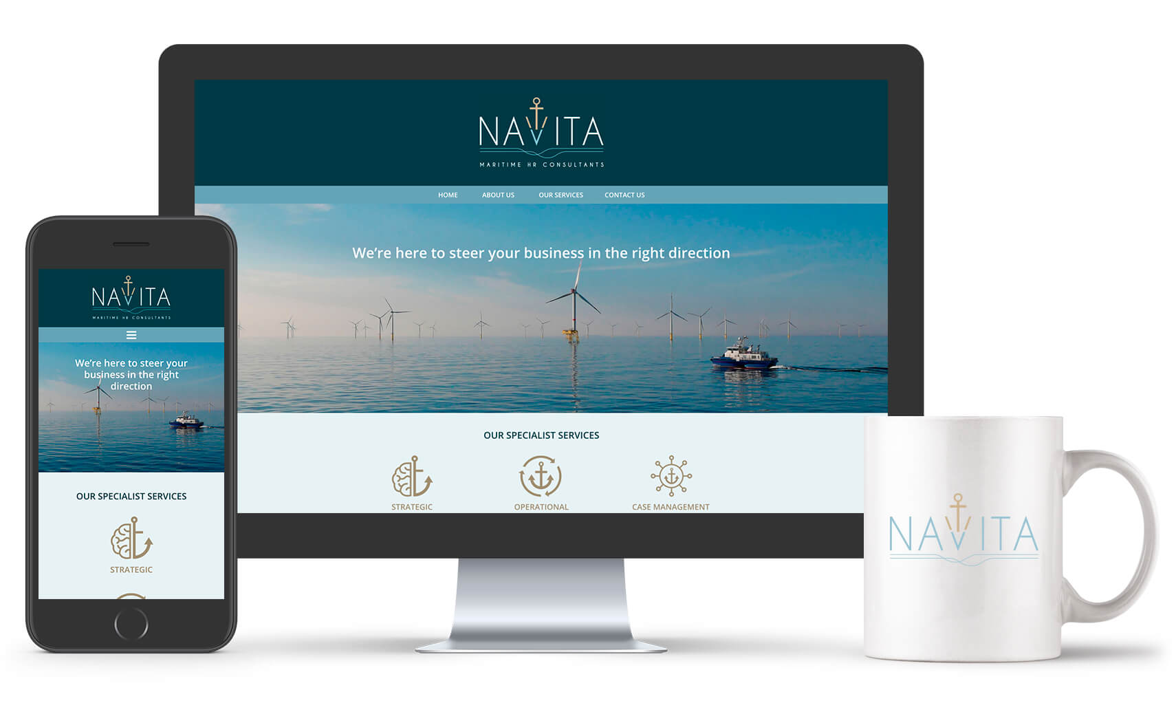 new navita maritime wordpress website