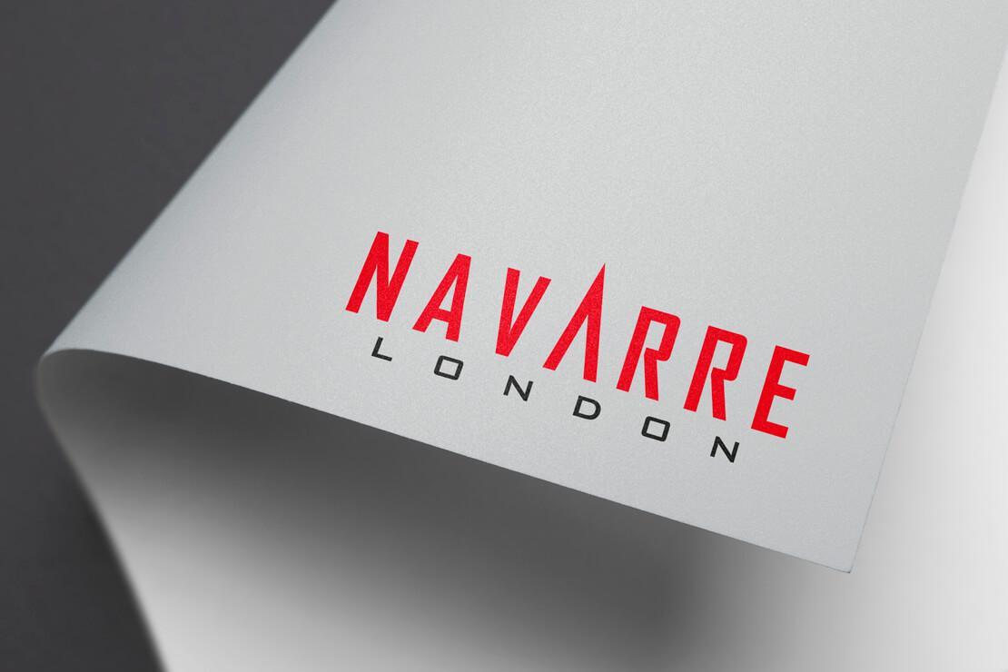 navarre london red and black logo